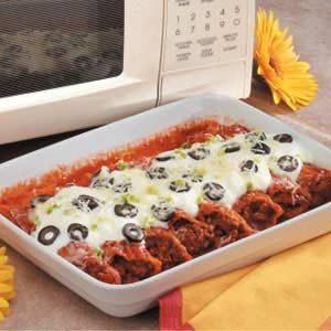 Microwave Mexican Manicotti