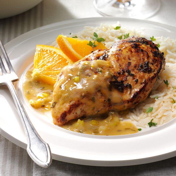Orange-Thyme Chicken in Garlic Sauce