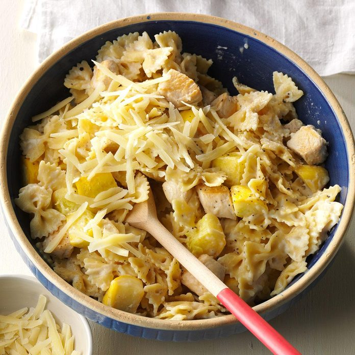 Parmesan Bow Tie Pasta with Chicken