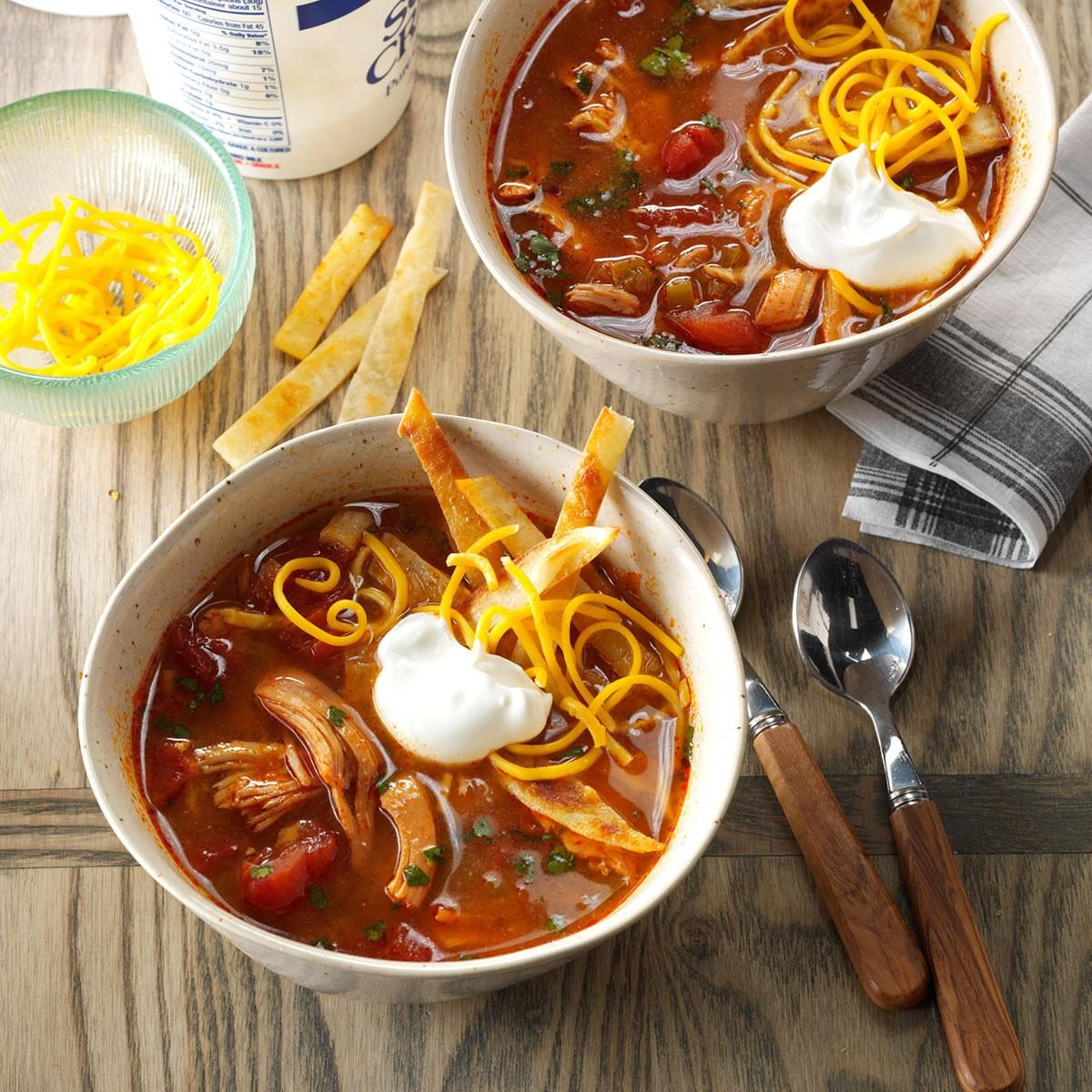 Sunday: Slow-Cooked Chicken Enchilada Soup