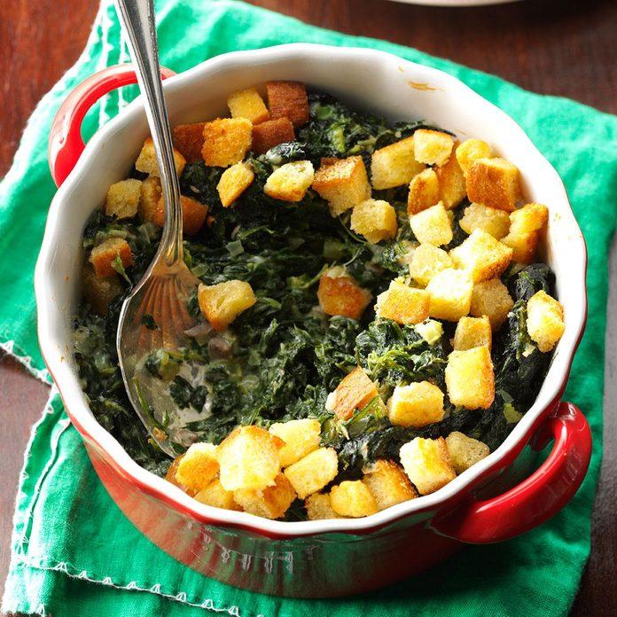 Day 4: Crunchy Spinach Casserole