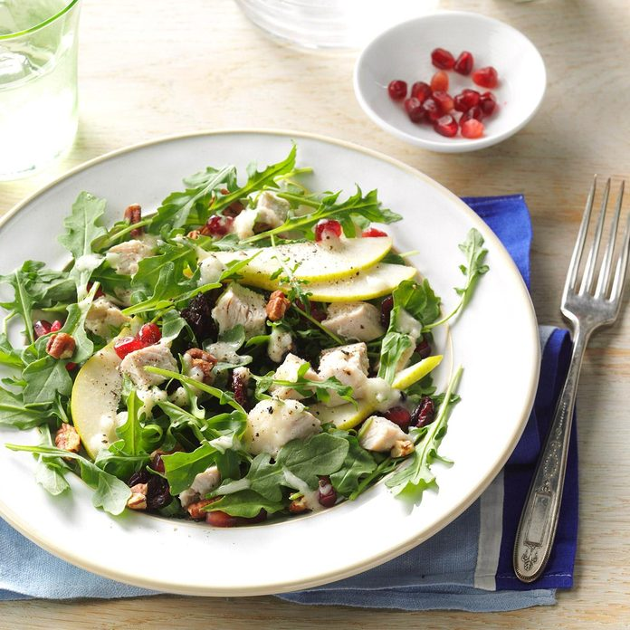 Turkey Spinach Salad with Pear Dressing
