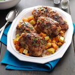 Balsamic Roasted Chicken Thighs with Root Vegetables