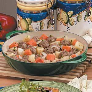 Onion Meatball Stew