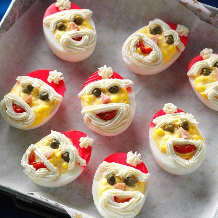Santa Deviled Eggs