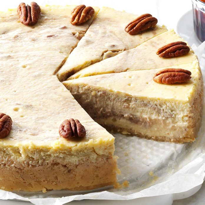 Roasted Banana & Pecan Cheesecake