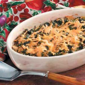 Spinach Cheddar Bake