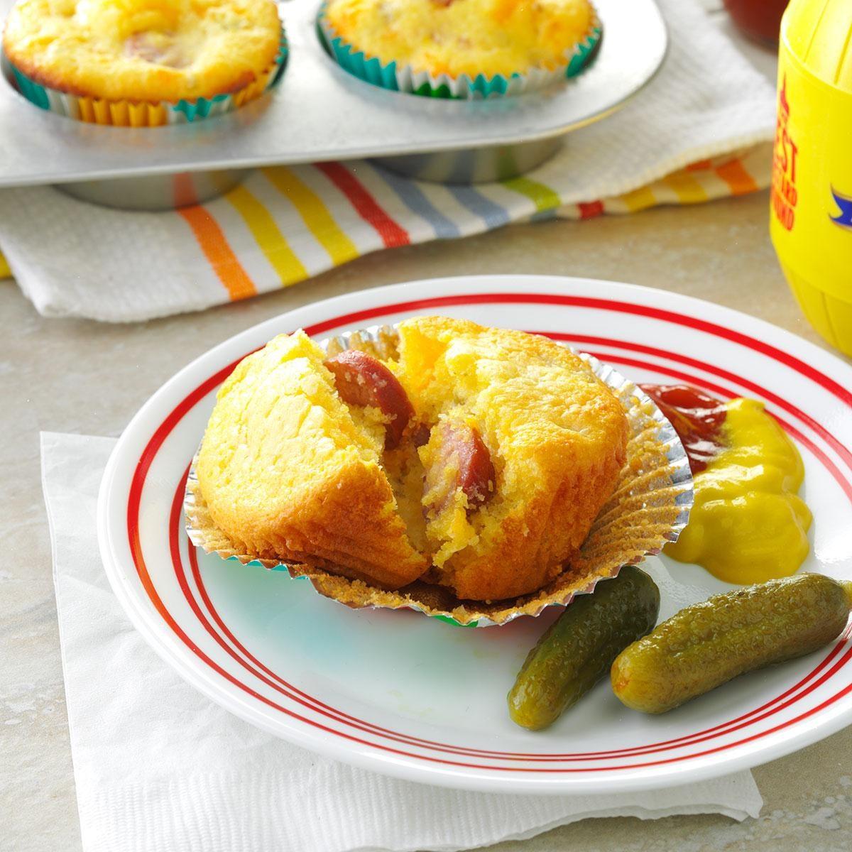 Middle School Age: Cheddar Corn Dog Muffins