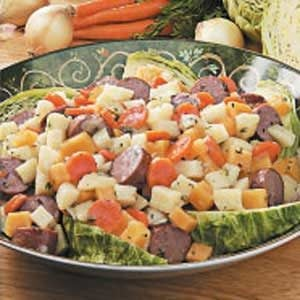 Turkey Sausage with Root Vegetables