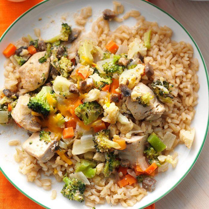 Broccoli-Cauliflower Chicken Casserole