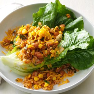 Warm Rice & Pintos Salad
