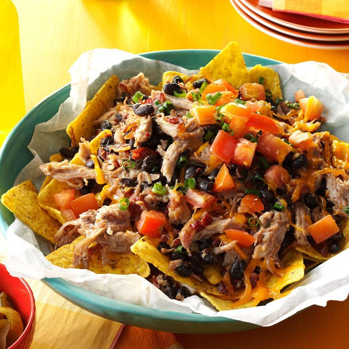 Inspired by: 3-Cheese Nachos with Pulled Pork