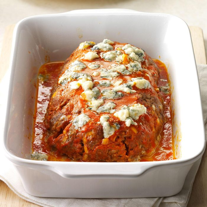 Buffalo Blue Cheese Meat Loaf