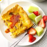 Cheese & Sausage Breakfast Pizza