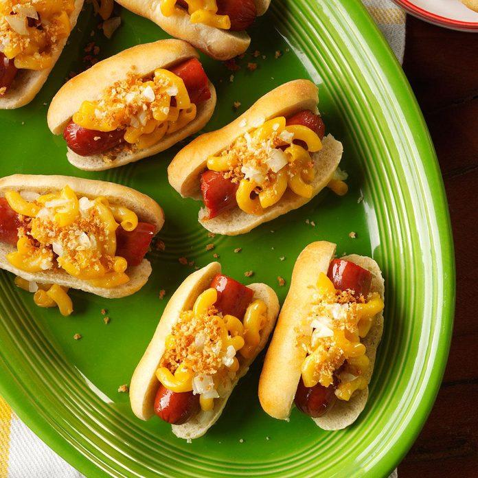 Mini Mac & Cheese Dogs