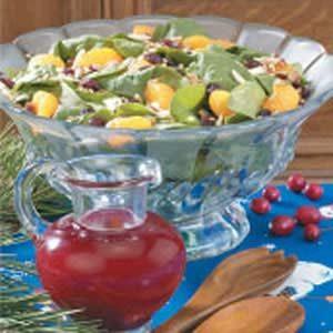 Salad with Cran-Raspberry Dressing