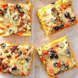 Mozzarella Cornbread Pizza