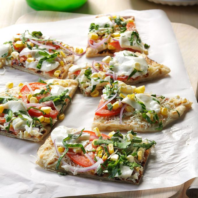 Grilled Garden Pizza