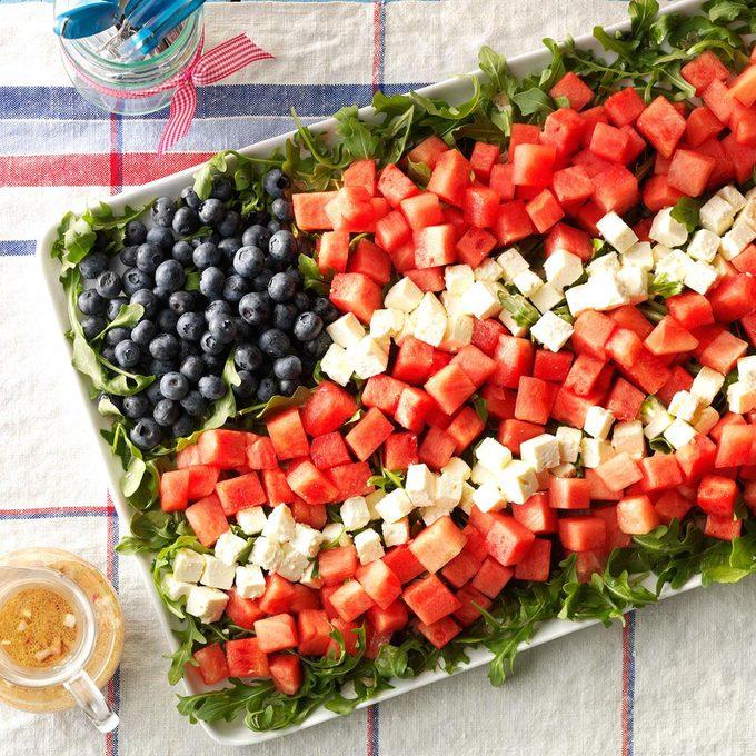 Watermelon Feta Flag Salad