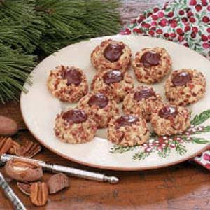 Chocolate Pecan Thumbprints