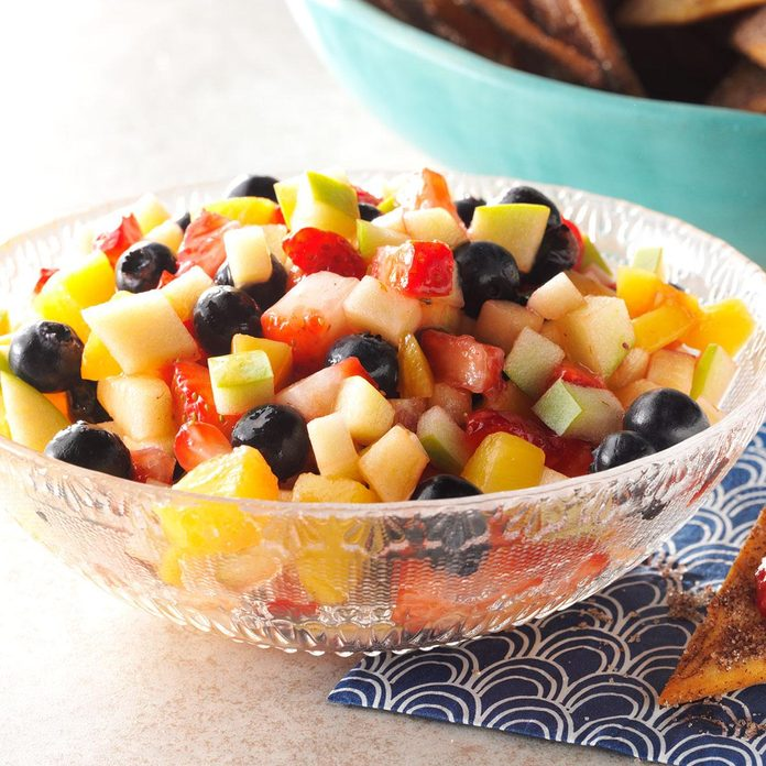 Fruit Salad Salsa with Cinnamon Tortilla Chips
