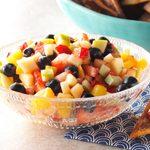 Fruit Salad Salsa with Cinnamon Tortilla Chips
