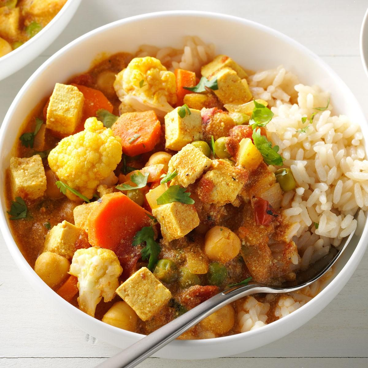 Friday: Cauliflower & Tofu Curry