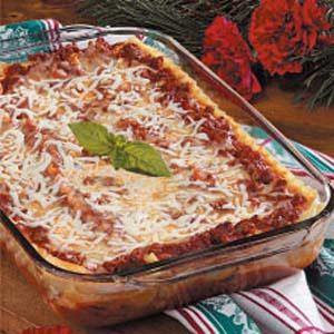 Swiss Cheese Lasagna