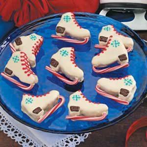 Ice Skate Brownies