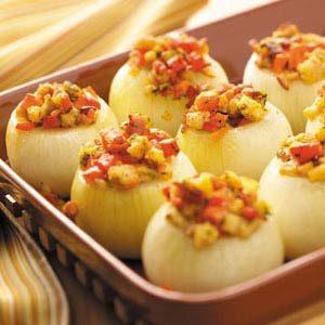 Vegetable-Stuffed Baked Onions