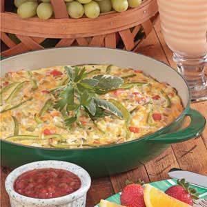 Chili-Cheese Rice Frittata