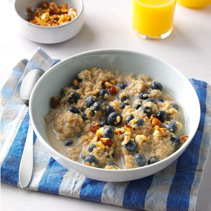 Day 1 Breakfast: Spiced Blueberry Quinoa