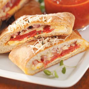 Ham and Cheese Calzones