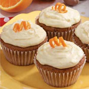 Orange Applesauce Cupcakes
