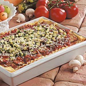 Mushroom Zucchini Lasagna
