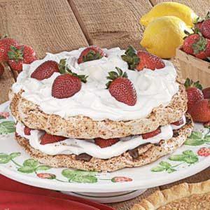 Strawberry Hazelnut Torte