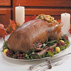 Goose with Cornbread Stuffing