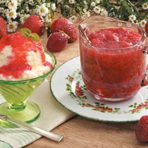 Microwave Strawberry Rhubarb Sauce