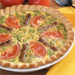 Sausage Garden Quiche