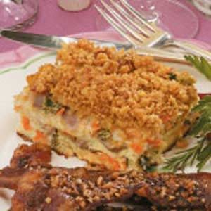 Ham Vegetable Strata