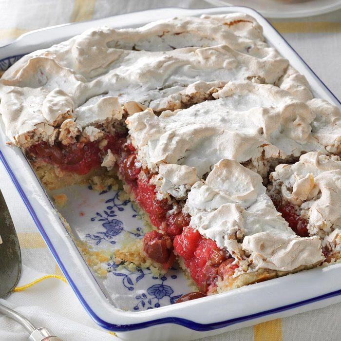 Now: Tart Cherry Meringue Dessert