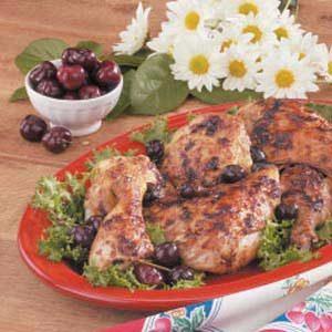 Chicken with Cherry Sauce