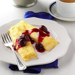 Cherry Cheese Blintzes