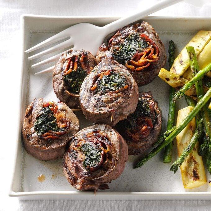 Spinach Steak Pinwheels