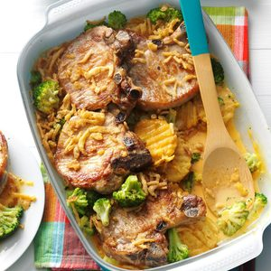 Baked Chops and Cottage Fries