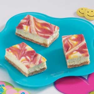 Tie-Dyed Cheesecake Bars