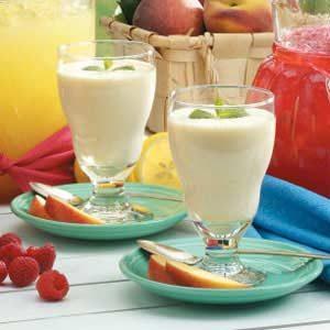 Peaches 'N' Cream Smoothies