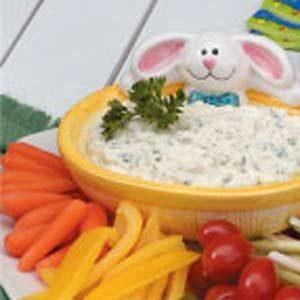Creamy Parsley Veggie Dip