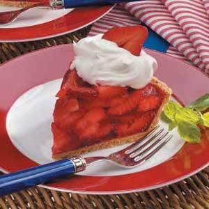 Light Strawberry Gelatin Pie