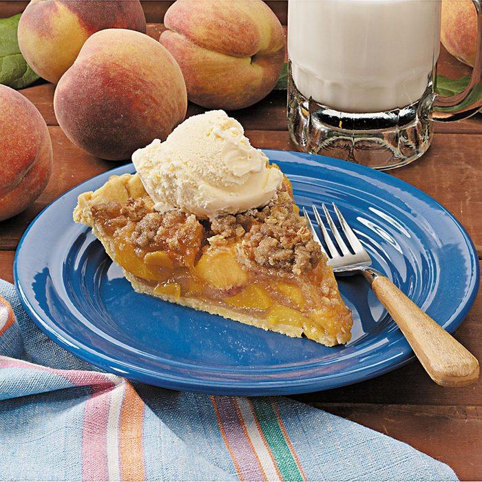 Peach Streusel Pie
